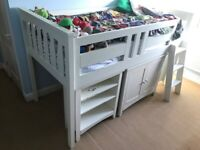 Kids Bunk Bed with pull out Desk, Cupboard & Drawers