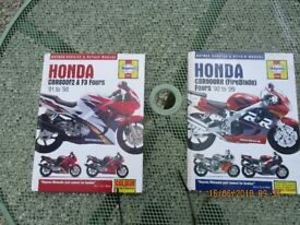 Haynes manuals for CBR600 and CBR900