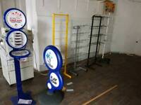Shop racking display stands