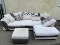 DFS Corner Sofa and Food Rest