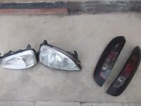 CORSA FRONT AND REAR LIGHTS