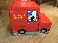 "Postman Pat Toy/Storage box. (Length 65cm, Height 50cm, Width 40cm. (22""x20""x16"")"
