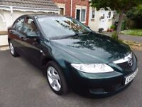 Mazda6 2.0 TS 5dr, ONE OWNER, VERY LOW MILEAGE, FULL SERVICE HISTORY, RACING GREEN METALLIC PAINT