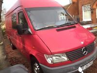 LEFT HAND DRIVE AIR CON 2000 MERCEDES SPRINTER 312D xlong wheelbase 6 seats Euro Reg,UK nova cert