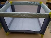 Babystart Travel Cot Green And Grey new in the box