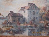 Original Oil Painting by James L. Keirstead – Keirstead Mill