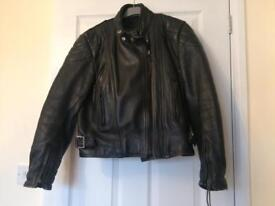 Asham leather bike jacket