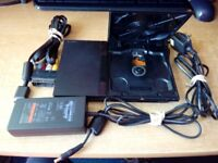 PLAYSTATION 2 CONSOLE SLIMLINE WITH 30 GAMES - READ ON