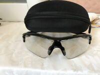 Oakley Radar Path Polished Black Sunglasses polarized, with case and box