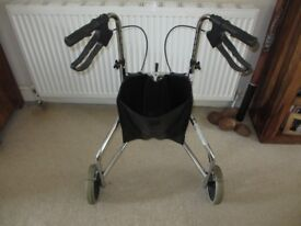 Folding Tri-Walker Walking Frame for sale - £20.00