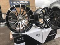 "Set of 4 20"" alloy wheels alloys rims BMW vw Volkswagen transporter t5 t6"