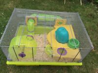 Hamster/mouse cage in excellent condition with accessories