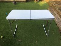 Large and small camping tables