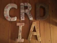 Handmade letters - perfect for child's bedroom