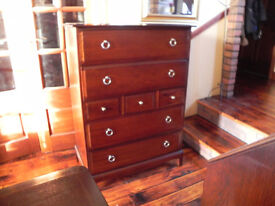 Stag minstrel tall 7 drawer chest of drawers