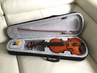 Full Size Natural Violin with Case +Bow+ Rosin