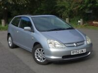 Honda Civic 1.6 AUTOMATIC SE Sport AUTO, LOW MILES not nissan vauxhall citroen ford toyota VW