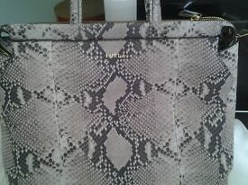 2 furla handbags and 1 coccinelle handbag .all genuine , all brand new
