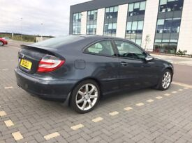 Mercedes C Class Sports Coupe AMG Evolution Panorama Edition Diesel Audi Grey Automatic