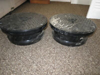 2 x Osma drain round inspection cover and frame 300 mm **NEW**