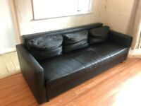 **Free** used faux leather 3 seater sofa