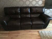 3 seater leather sofa.