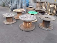 Wooden cable drums reclaimed for up cycle sizes from 700mm to 1000mm
