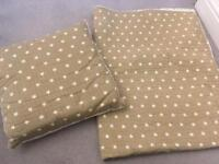 Neutral nursery - Baby blanket and cushion