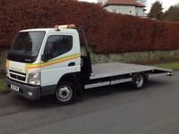 2012 MITSUBISHI CANTER FUSO 3.0 DIESEL 3.5 TONNE RECOVERY TRUCK WHITE ** LONG MOT! ** LOW MILES! **