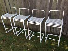 4 White Metal Bar Stools Coogee Eastern Suburbs Preview