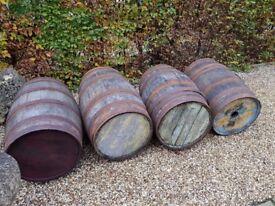 Large Oak Whiskey Barrels for decoration