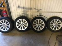 4 BMW alloy wheels with snow tyres
