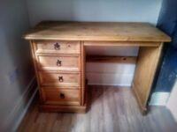 Pine Desk Corona Mexican Wooden Computer Table