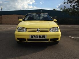 Volkswagen Golf 2.0 Colour Concept 2dr£2,995 p/x Full Service History 2000, Convertible 74,000 miles