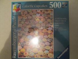 "**NEW** Ravensburger ""Calorific Cupcakes"" 500 piece jigsaw, new and sealed"