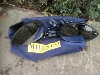 Pair of Milenco Aero – Caravan Towing Mirrors with Storage Bag