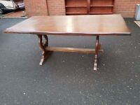 'Arts & Crafts' Style Dining table (oak)