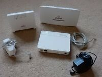 1 BT Openreach VDSL FTTC and 2 Plusnet Hub One (3 routers)