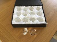 Wedding crystal menu holders