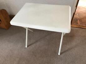 Folding white table