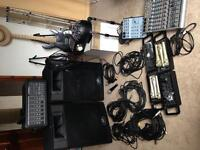 Peavey MP 600 PA System, Mixers, Cables, and Microphones