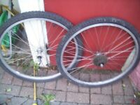 mountain bike wheels 26 inch back and front