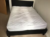 Leather faux low style double bed