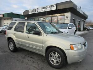 2004 Ford Escape Limitée (Heated seats, 4x4, Leather, Sunroof, A