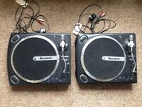 2 x Numark TT1625 DJ Turntable / Record Player