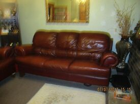 LEATHER SUITE Make a sensible offer ! new suite arriving
