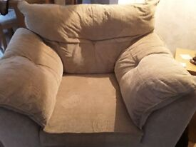 3 seater sofa and arm chair to match
