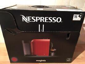 Brand new Nespresso coffee machine