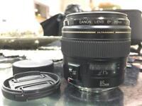 Canon 85mm f1.8 Canon lens