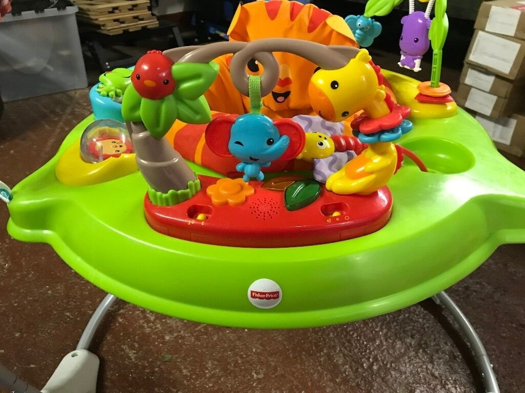 537a4e4345b6 Fisher Price Rainforest Jungle Jumperoo baby bouncer